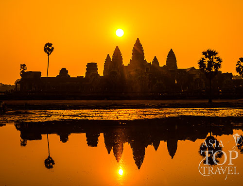 Sunset at Angkor complex