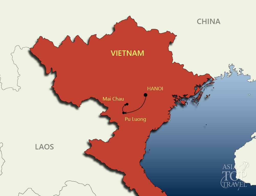 Northern Vietnam Map.Northern Vietnam
