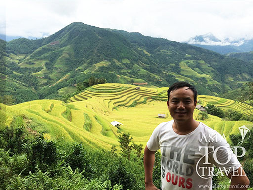 Hoang Su Phi rice terrace in September
