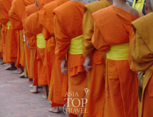 Monks in Vientiane